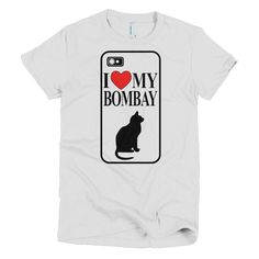 I <3 My Bombay Cat - Short Sleeve Women's T-Shirt
