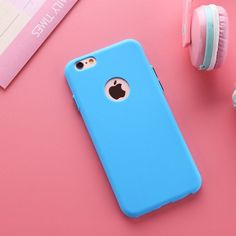 Solid Candy Color Matte Skin Case for iPhone 6 TPU Soft Back Cover for Apple iPhone 6S 6 S New Upgraded Phone Case 4.7""
