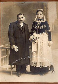 JOSEPH VILLARD 1838-1898 BRETAGNE QUIMPER MARIAGE circa 1880 photoSIGNÉE 41x31cm