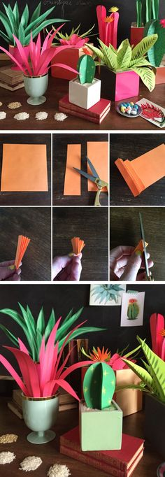 DIY Paper Plants | Click Pic for 22 Easy to Make Mothers Day Gifts from Adults | DIY Birthday Gifts for Friends
