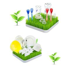 Soraco Lawn Drying Rack Grass Counter Top for Baby Bottles: Amazon.co.uk: Kitchen & Home