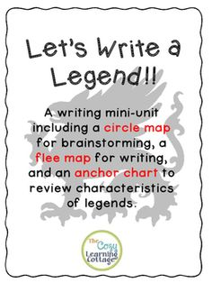 I use this writing activity as a culmination of my unit on legends (you can check out my activities for the Legend of the Indian Paintbrush here for ideas on teaching legends). Before we start this activity, we have read at least three legends. I recommend:The Legend of the Indian Paintbrush by Tomie dePaolaThe Lengend of the Bluebonnet by Tomie dePaolaWhy Mosquitoes Buzz in Peoples Ears by Verna AardemaWe brainstorm together to write a class legend on chart paper first.