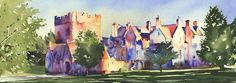 Jonathan Wheeler, watercolour artist based in Findhorn Scotland, specialising in Scottish castles and scenes including Edinburgh. Limited edition and signed edition prints for sale - commissions undertaken. Scotland Castles, Scottish Castles, Irvine Scotland, Watercolor Print, Prints For Sale, Artist, Watercolours, Pictures, Family History