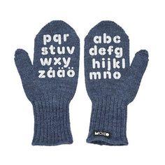 ABC-heijastavat lapaset - nämä ja muita ihanuuksia. Ai että.