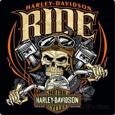 Harley Davidson Ride Bone Sign Tin Sign I got this one on my wall.