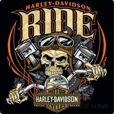 Harley Davidson Ride Bone Sign Tin Sign