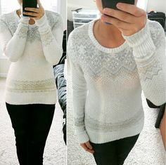 19✂H&M Logg Premium White Sweater PRICE IS FIRM!! (Seeon TITLE) This is the lowest I can do! Make me an offer, it's YOURS! ➖➖➖➖➖➖➖➖  ✨Bought this sweater new for over $60✨ Wore only a handful of times, purchased last year  ⏩Pattern-knit sweater in a cotton blend ⏩Beautifully soft and warm, containing 7% angora in the fabric ⏩Full sleeve, crew neck, ribbing at cuffs and hem ⏩Beautiful stitch pattern, has some stretch  ⏩Perfect for a casual layer for the cold months ⏩Label says XS, but it…