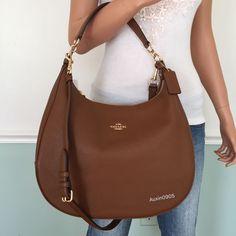 NEW! COACH Gorgeous Pebbled Leather Hobo Shoulder Bag Crossbody Purse Brown | Clothing, Shoes & Accessories, Women's Handbags & Bags, Handbags & Purses | eBay!