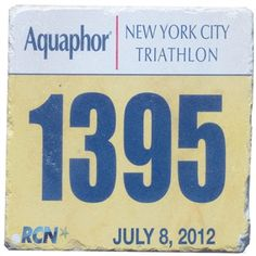 Your Tri Bib on Your Coaster BibCOASTERS