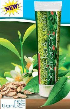"""Φωτογραφία του χρήστη Tiande Club Hellas. Οδοντόκρεμα """"Πράσινο Τσάι + Sanchi ginseng"""" TianDe  Οδοντόκρεμα """"Πράσινο Τσάι + Sanchi ginseng"""" έχει τριπλή δράση: - Αποτρέπει τη φθορά των δοντιών - Δυναμώνει τα ούλα - Δίνει έντονη φρεσκάδα Περιέχει φυσικά αντιβακτηριακά συστατικά: - Εκχύλισμα πράσινου τσαγιού - Απόσταγμα του ginseng - μενθόλη Δεν περιέχει: - φθόριο - Ενώσεις χλωρίου Voss Bottle, Water Bottle, Tea, Green, Water Flask, Water Bottles, Teas"""