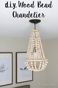 Installing A Chandelier . Installing A Chandelier . Palecek Mariana Beaded Chandelier Chandelier is Fully Beaded Chandelier Picture, How To Make A Chandelier, Wood Bead Chandelier, Candle Chandelier, Chandelier Lighting, Chandeliers, Chandelier Redo, Homemade Chandelier, Homemade Lamps