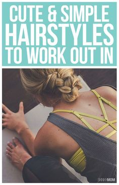 Sweat in style with one of these simple workout hairstyles! #workouthair #hairstyles #fitnesstips