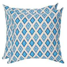 I pinned this Ikat Pillow in Arctic Blue - Set of 2 from the Elisabeth Michael event at Joss and Main!
