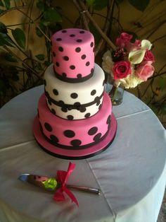 Pink and polka dots cake