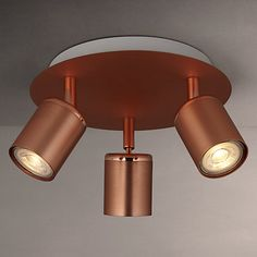 Buy John Lewis Mode GU10 LED Spotlight Plate, 3 Light, Copper Online at…