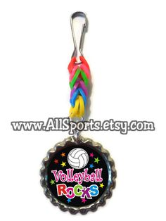 RAINBOW LOOM #Volleyball Party Favors  #Baseball #Football #Golf also available by AllSports, $5.00