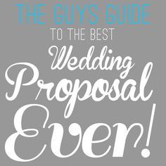 :D Beebiiiitoooo... - The Guys Guide to the Best Wedding Proposal Ever.  Girls Share this with your man! #wedding #proposal #idea