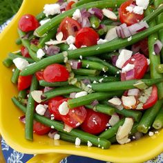 Garden-Fresh Green Bean Salad recipe http://cleanfoodcrush.com/garden-fresh-green-bean-salad