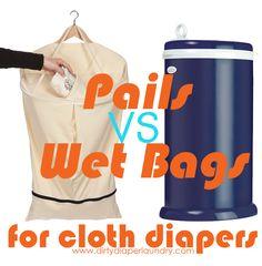 Diaper Pails Versus Hanging Wet Bags- Dirty Cloth Diaper Storage Debate | Dirty Diaper Laundry