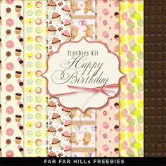 New Freebies Kit of Paper - Happy Birthday