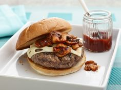 Swiss and Mushroom BBQ Burger Recipe : Patrick and Gina Neely : Food Network - FoodNetwork.com
