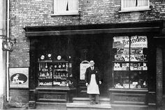 Adcocks of Watton Shop 1912 Local History, Norfolk, Small Towns, Spaces, Shop