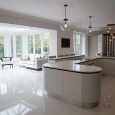Open plan kitchen area in Orangery extension - House Plans, Home Plan Designs, Floor Plans and Blueprints Open Plan Kitchen Dining Living, Living Room And Kitchen Design, Open Plan Kitchen Diner, Kitchen Family Rooms, Modern Kitchen Design, Home Decor Kitchen, Interior Design Kitchen, Kitchen Ideas, Modern Living Room Designs