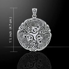 Celtic WOLF Pendant 925 Sterling Silver Norse Celtic Triskele Wolf energy amulet