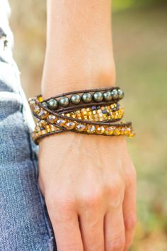 Chan Luu Inspired Wrap Bracelet Boho wrap by laceandthreads