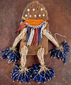 Beaded Calabash Doll, Fali, Cameroon