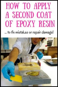 From time to time you may need to add a second coat to your resin job to fix mistakes or damage. Dave walks us through how to do it! #resin #artresin #resina #epoxyresin