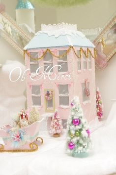 2 story pink glitter house, via Flickr by kathie