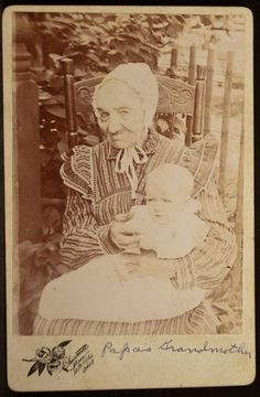 Cabinet Photo Old Woman Baby  Joseph Kirchner Grandmother Chesnutt Cleveland OH