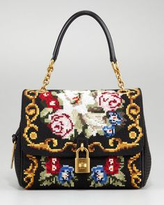 Miss Dea Tapestry Satchel by Dolce & Gabbana at Neiman Marcus. #NMFallTrends