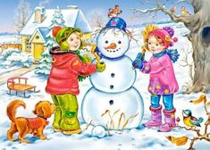 Solve Winter jigsaw puzzle online with 204 pieces Preschool Decor, Preschool Activities, Four Seasons Art, Teaching Weather, Little Einsteins, Winter Activities For Kids, Poster Drawing, Baby Clip Art, Build A Snowman