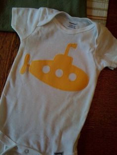 ca481e596 Yellow Submarine----appliqued onsie/bodysuit/t-shirt--------think THE  BEATLES