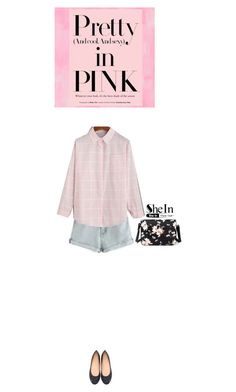"""Shein blouse"" by blueeyed-dreamer ❤ liked on Polyvore featuring Designers Guild, contest, Pink, blouse and shein"