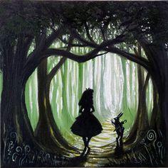 ooak Original rare art painted alice in wonderland fantasy painting artwork in | eBay