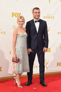 And the award for the best dressed couple goes to! Naomi Watts (l.) and her hubby Liev Schreiber proved they were the perfect match at the Annual Primetime Emmy Awards. Watts donned a Dior floral embroidered bustier dress for the evening on Sept. Naomi Watts, Christian Dior Couture, Celebrity Red Carpet, Celebrity Look, Celebrity Couples, Jimmy Choo, Calvin Klein, Hollywood Couples, Haute Couture Dresses