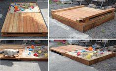 Wooden Pallet Sand Box