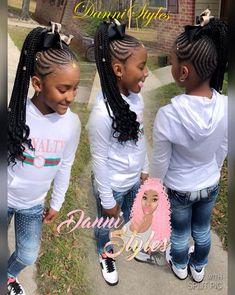 The Beauty of Braided Hairstyles Lil Girl Hairstyles, Black Kids Hairstyles, Braided Ponytail Hairstyles, Natural Hairstyles For Kids, African Braids Hairstyles, Natural Hair Styles, Hairdos, Easy Hairstyles, Little Girl Braids