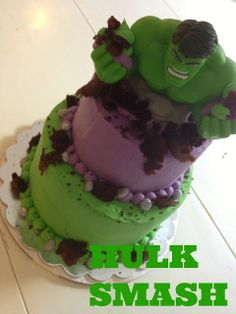 LAURA'S CAKE KITCHEN: HULK SMASH CAKE