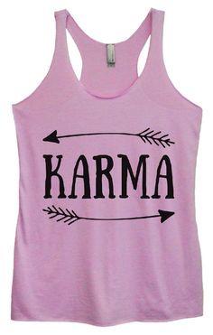 Womens Tri-Blend Tank Top - KARMA