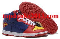 best authentic 07628 74afc Supermen II Blue Red Nike Dunk SB High Top Men Sale Online Cheap New  Jordans Shoes