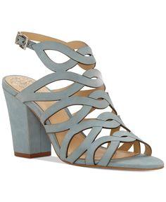 f4cd148b85da Vince Camuto Norla Strappy Block-Heel Sandals   Reviews - Sandals   Flip  Flops - Shoes - Macy s