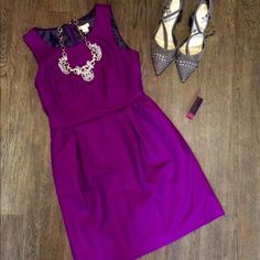 J. Crew Fuchsia Dress Sz 2P NWT NWT Fuchsia dress in size 2 Petite. Super cute for work or play! Always happy to consider offers! J. Crew Dresses