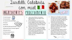 Turdilli Calabreses con Miel Italian Recipes, Journal, Food, Sweets, Milk Glass, Honey, Essen, Meals, Yemek