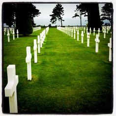 American Cemetery, Normandy Beaches, France. The only place in France Mike will agree to go to.