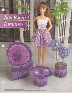Fashion Doll Sun Room Furniture Plastic by needlecraftsupershop, $2.95