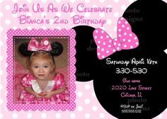 Pink+Photo+Minnie+Mouse+Birthday+Party+Invitation++by+photodesignz,+$10.00